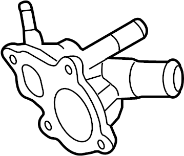 Nissan Murano Engine Coolant Thermostat Housing. COOLING