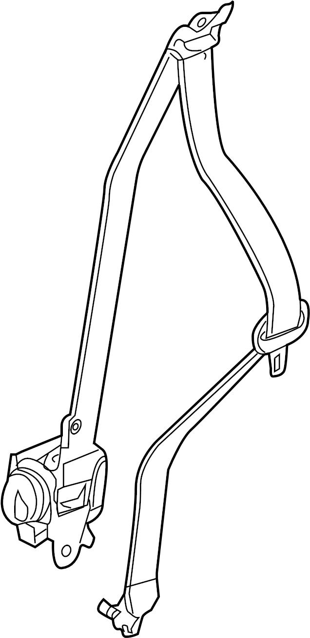 Nissan Pathfinder Seat Belt Lap and Shoulder Belt (Front