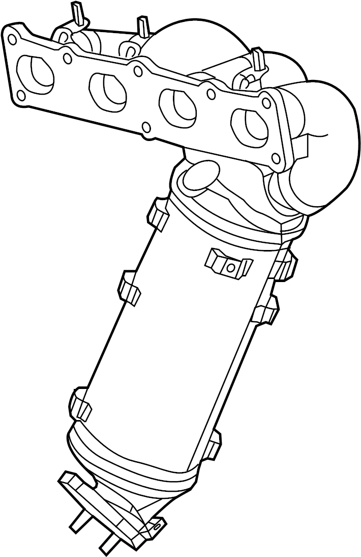 Nissan 200SX Catalytic Converter with Integrated Exhaust