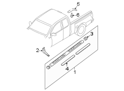 Nissan Frontier Molding. Roof. Drip. MOULDING. E. W'strip