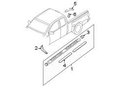 Nissan Frontier Drip. Molding. Channel. Rail. W'strip
