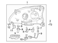 2014 Nissan Sentra Socket. 2013-2015. Bulb, headlamp, wire