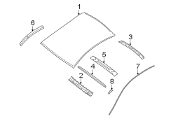 Nissan Altima Roof Molding Clip. W/O SUNROOF; W/SUNROOF