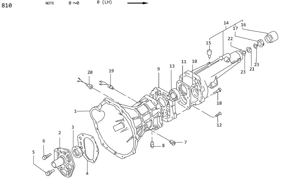 Datsun 620 Gutter Oil Adapter. Retainer Main Shaft Bearing