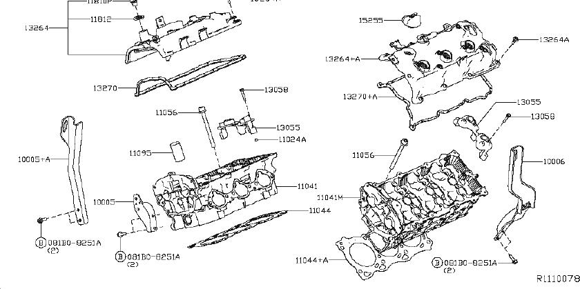 Nissan Maxima Engine Valve Cover Gasket. HEAD, CYLINDER