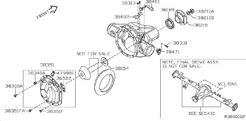 Nissan Titan Differential Pinion Seal. PRO, EDL, REAR
