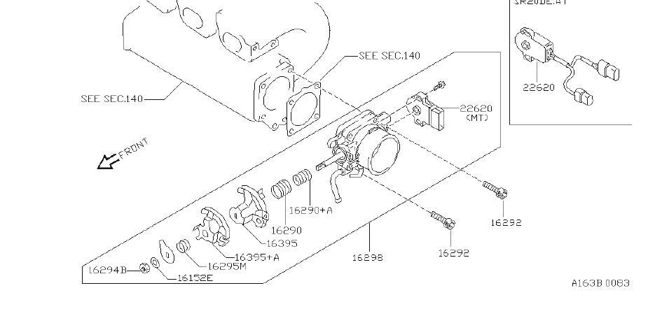 Nissan Pulsar NX Spring Throttle Assist. Spring Throttle
