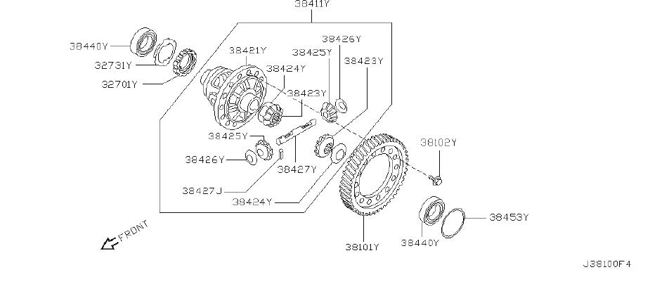 Nissan Sentra Manual Transmission Differential Bearing