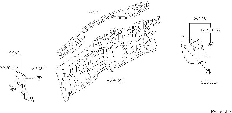 Nissan Sentra Engine Compartment Insulation (Lower