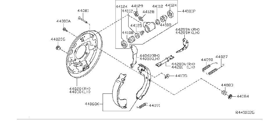 Nissan Sentra Drum Brake Adjuster (Left, Right, Rear