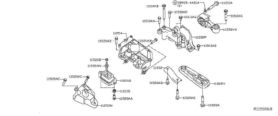 Nissan Sentra Manual Transmission Mount Bracket (Right