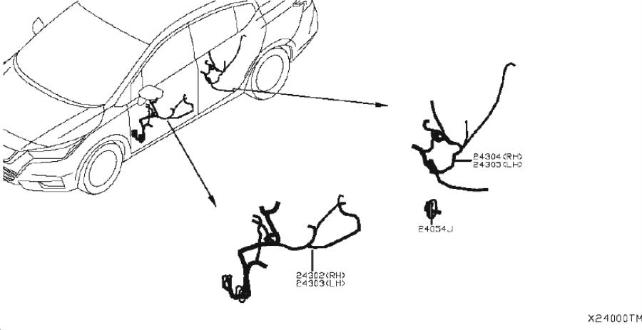 Nissan Sentra Harness Defogger. WIRING, ENGINE, CONTROL