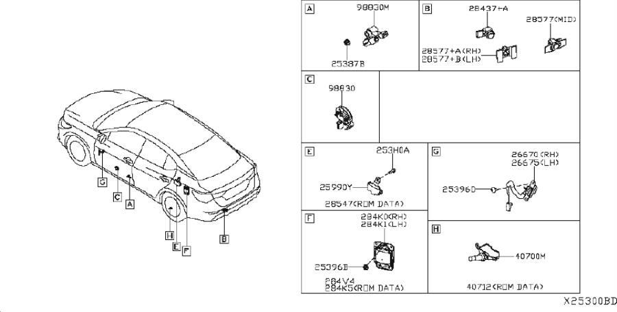 Nissan Sentra Wire Steering Air Bag. DASH, INST, ENGINE