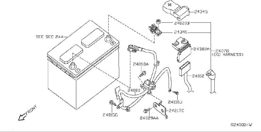 Nissan Maxima Srs product. Harness defogger, earth. System