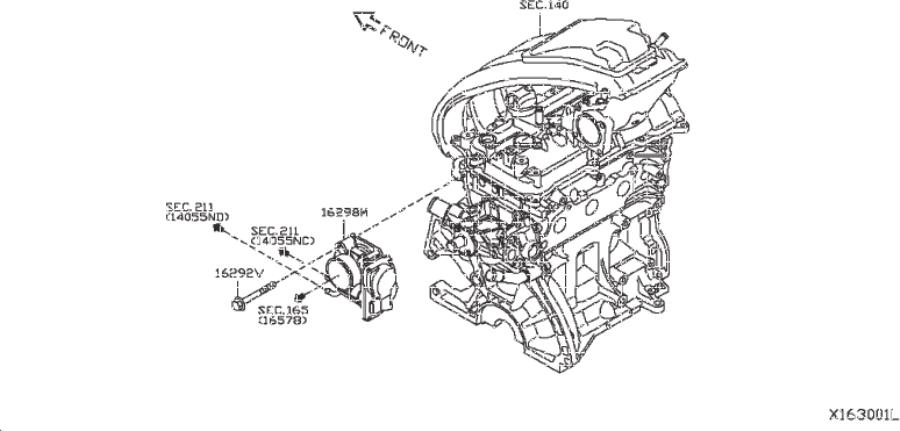 Nissan Versa Note Fuel Injection Throttle Body. ADOPTED