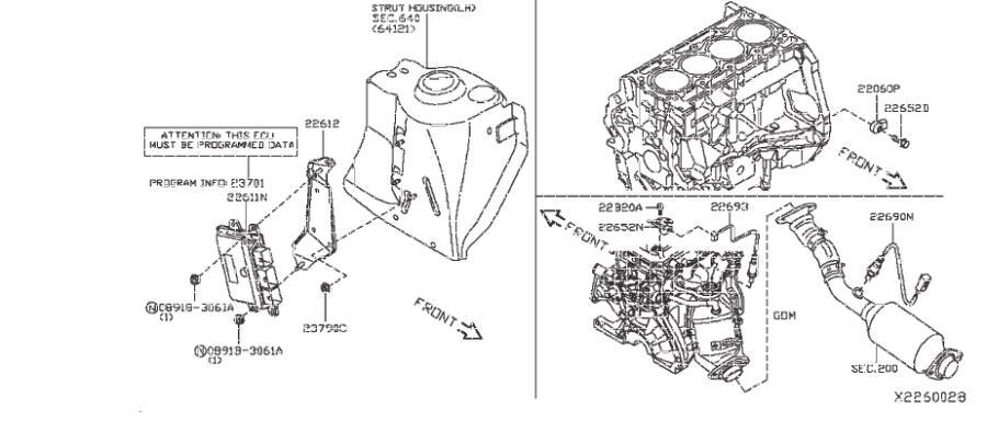 Nissan Versa Note Oxygen Sensor. MODULE, ENGINE, CONTROL