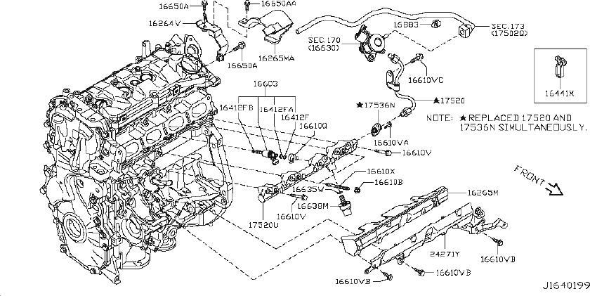 Nissan Juke Fuel Rail Pressure Sensor. STRAINER, HOSE