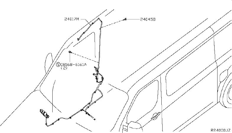 Nissan NV3500 Starter Heat Shield Bolt. HARNESS, MOTOR