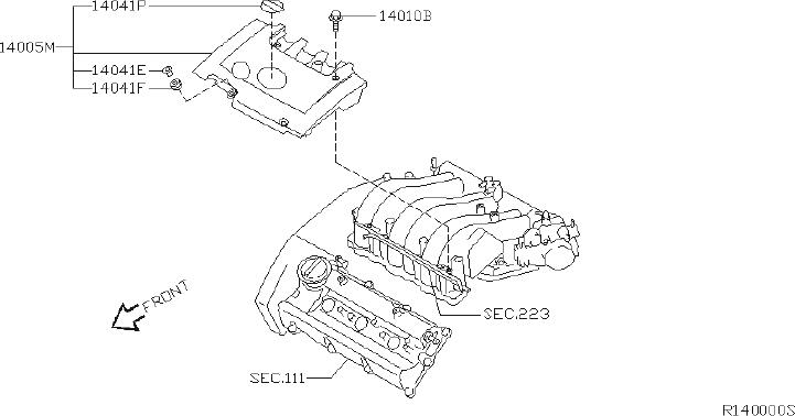 Nissan Altima Air Crossover Gasket. Gasket Intake Manifold