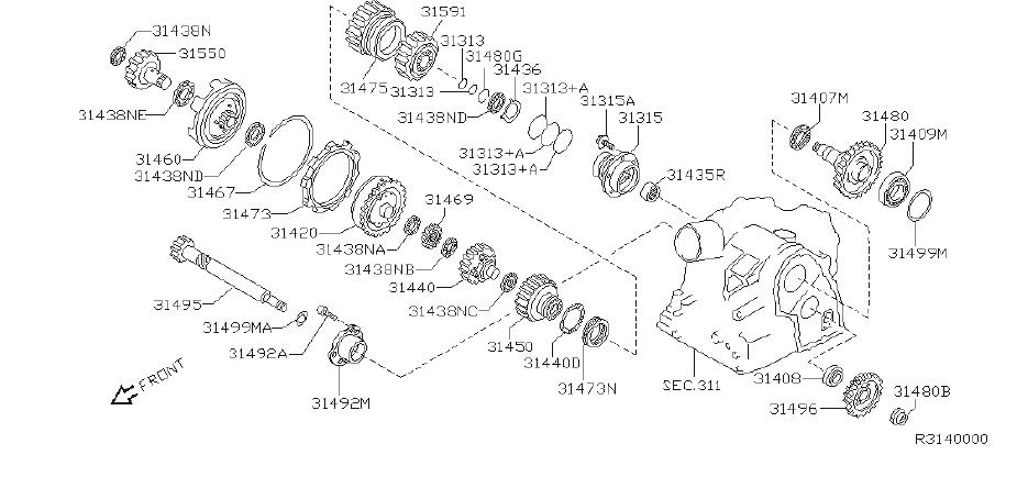 Nissan Altima Shim Adjust, Idler Gear. Shim Adjust, Outer