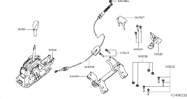 Nissan Altima Automatic Transmission Shifter Cable Bracket