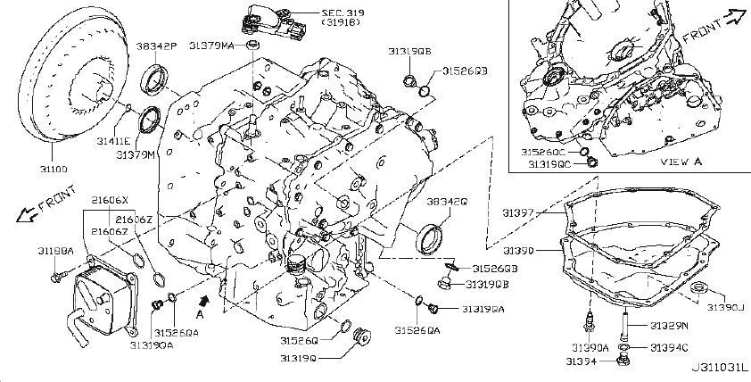 Nissan Versa Automatic Transmission Oil Pan Drain Plug