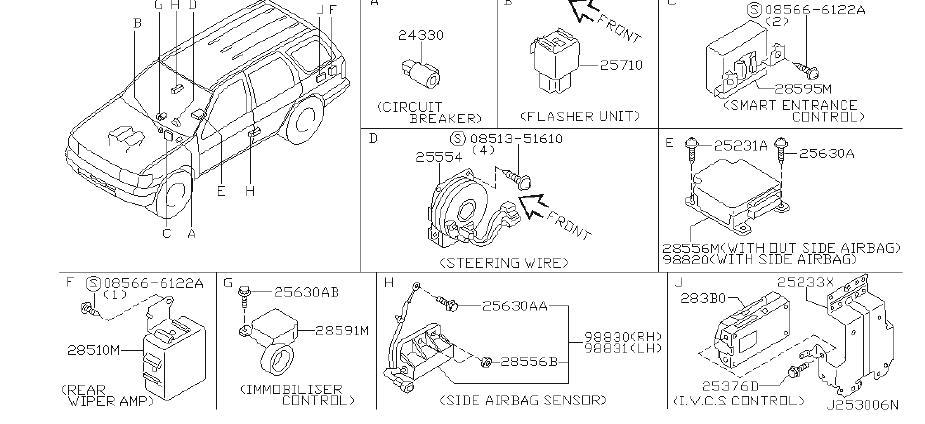 Nissan Pathfinder Keyless Entry Transmitter Battery