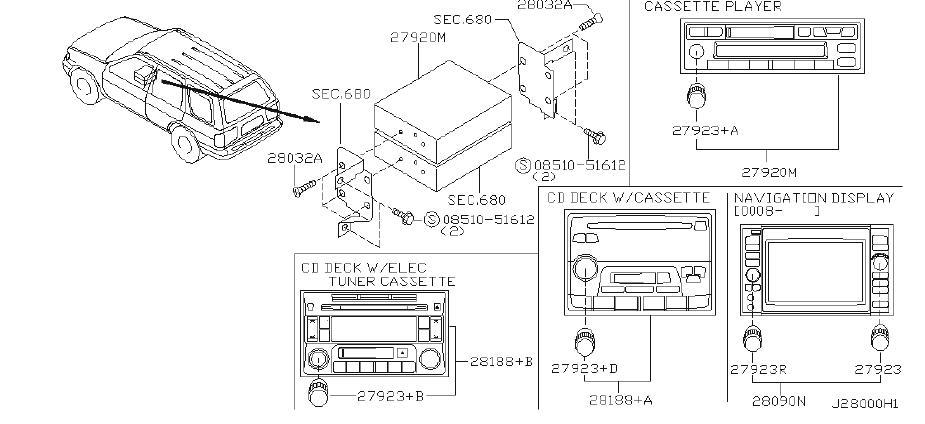 Nissan Pathfinder Radio Amplifier Bracket. AUDIO, BOSE