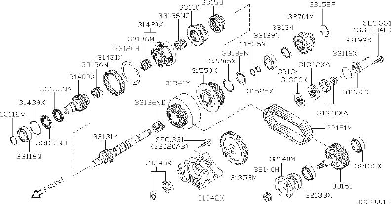 Nissan Pathfinder Race Bearing. Shim Bearing. SELECT