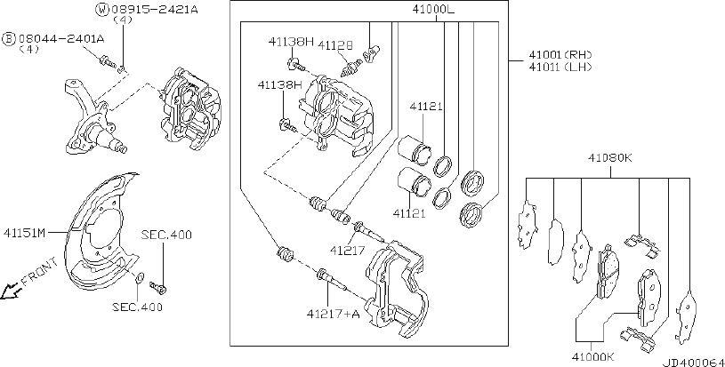 Nissan Rogue Disc Brake Caliper Guide Pin. Disc Brake