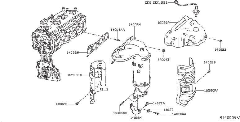 Nissan Pathfinder Yoke Manifold. ENGINE, INTAKE, EXHAUST