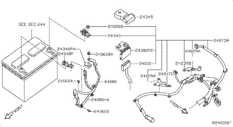 Nissan Pathfinder Bracket Harness Clip. ENGINE, BODY, MAIN