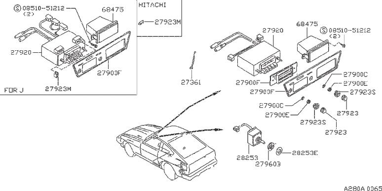 Nissan 280ZX Suppressor Noise. Wire Bonding. CLARION