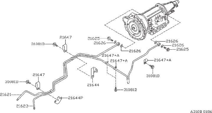 Nissan 240SX Gauge Oil Level. TRANSMISSION, FITTING