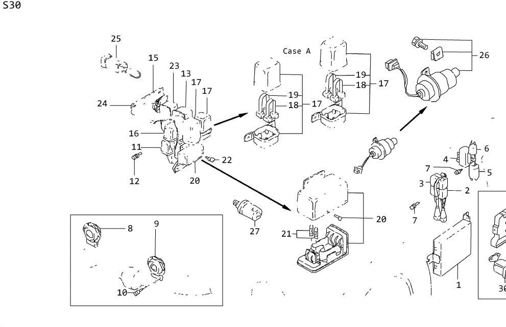 Datsun 260Z Amp INTERMITTEN. Box Fusible Link. Harness