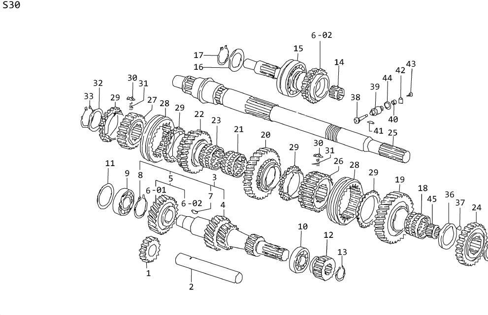 Datsun 260Z Pinion-speedometer. Fitting, transmission