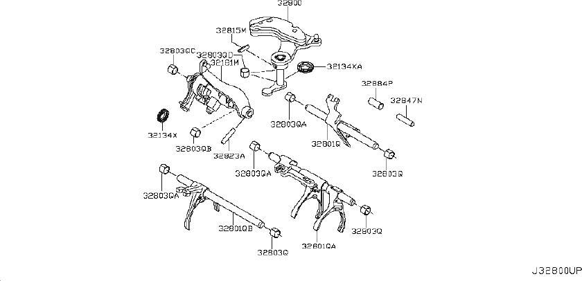 Nissan Versa Shaft Fork. SHIFT, CONTROL, TRANSMISSION