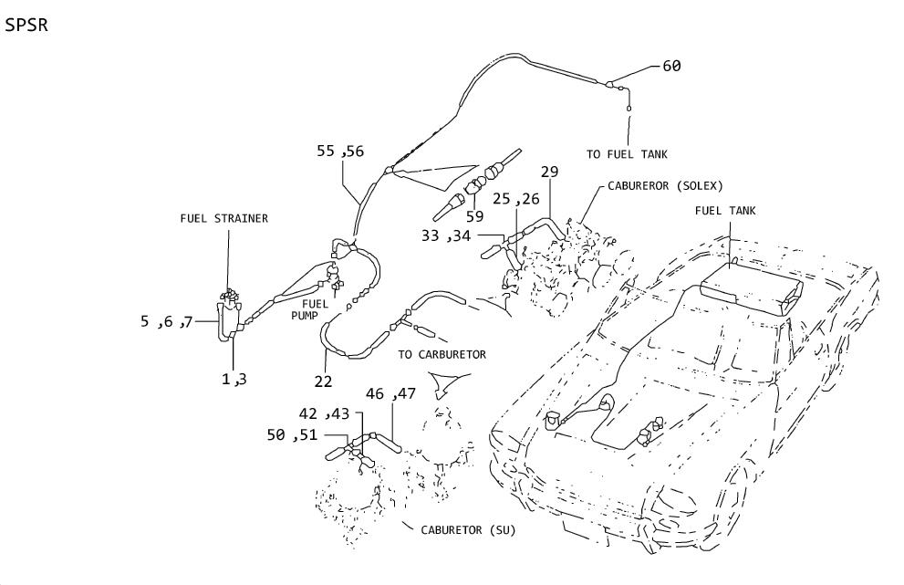 Nissan 350Z Clamp Hose, Carburetor TO I. ORD FRM SRS Clamp