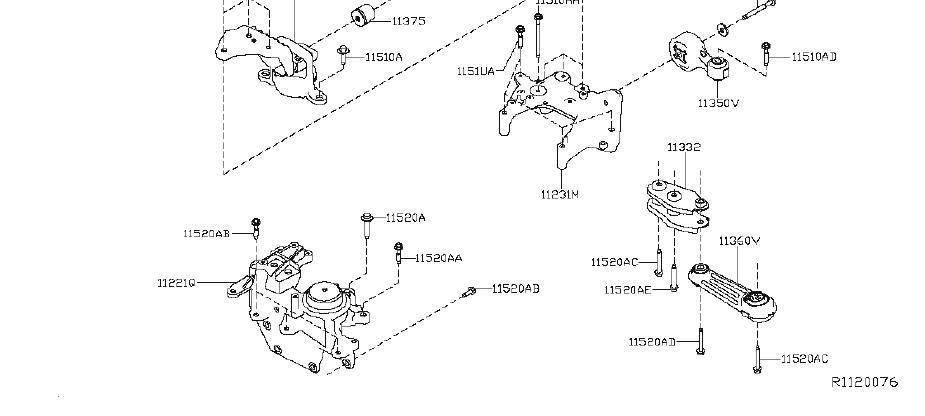 Nissan Rogue Engine Torque Strut. MOUNTING, TRANSMISSION