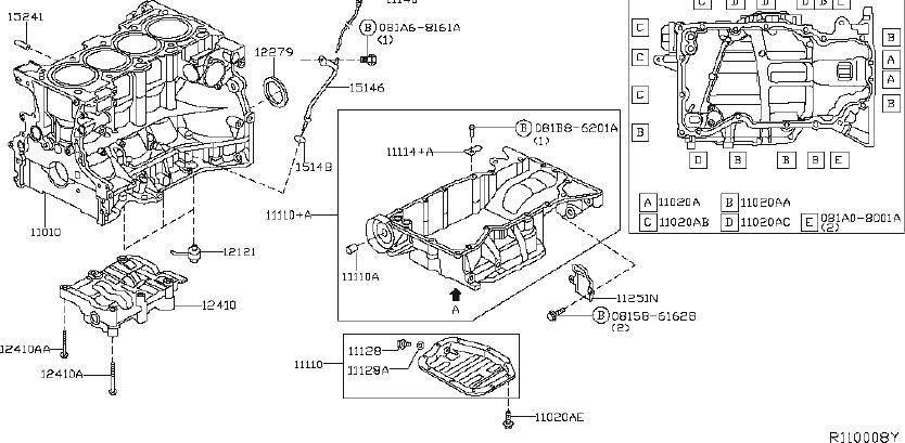 Nissan Rogue Engine Crankshaft Seal (Rear). ASSEMBLY