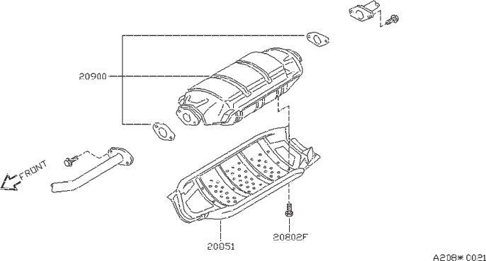 Nissan Quest Catalytic Converter Heat Shield (Lower