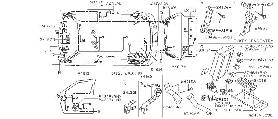 Nissan Sentra Clamp Cable. Clip Blind. Clip Wiring Harness