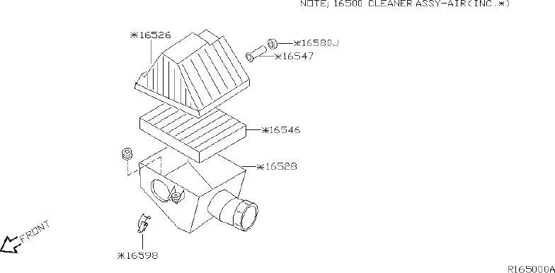Nissan Xterra Engine Air Intake Resonator Insulator