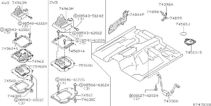 Nissan Xterra Manual Transmission Shift Linkage Boot