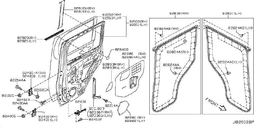 Nissan Cube Door Hinge (Left, Right, Front, Rear, Upper