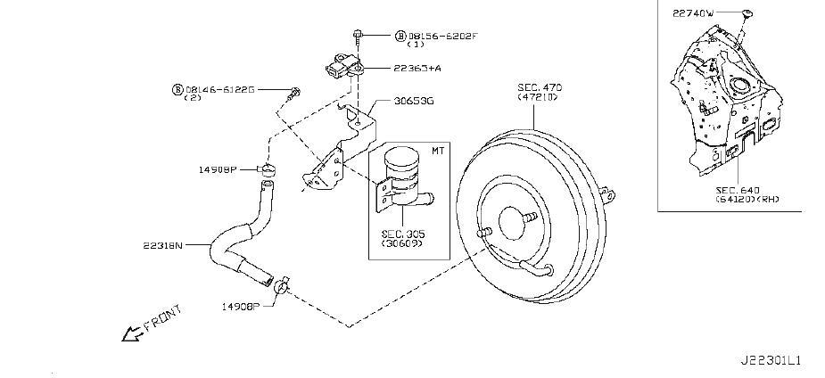 Nissan 370Z Evaporator Control System Pressure Sensor