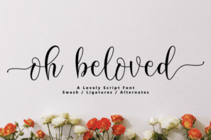 Oh Beloved // Lovely Script Font