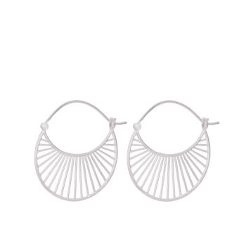Daylight Earrings silber L von Pernille Corydon