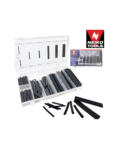 127PC HEAT SHRINK TUBING ASSORTMENT|NIS Tools