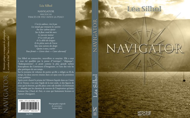 """Léa Silhol : """"Navigator"""" (2017) – photographie originale de Sadana Silhol – cover design par Léa et Greg Silhol pour Nitchevo Studio"""